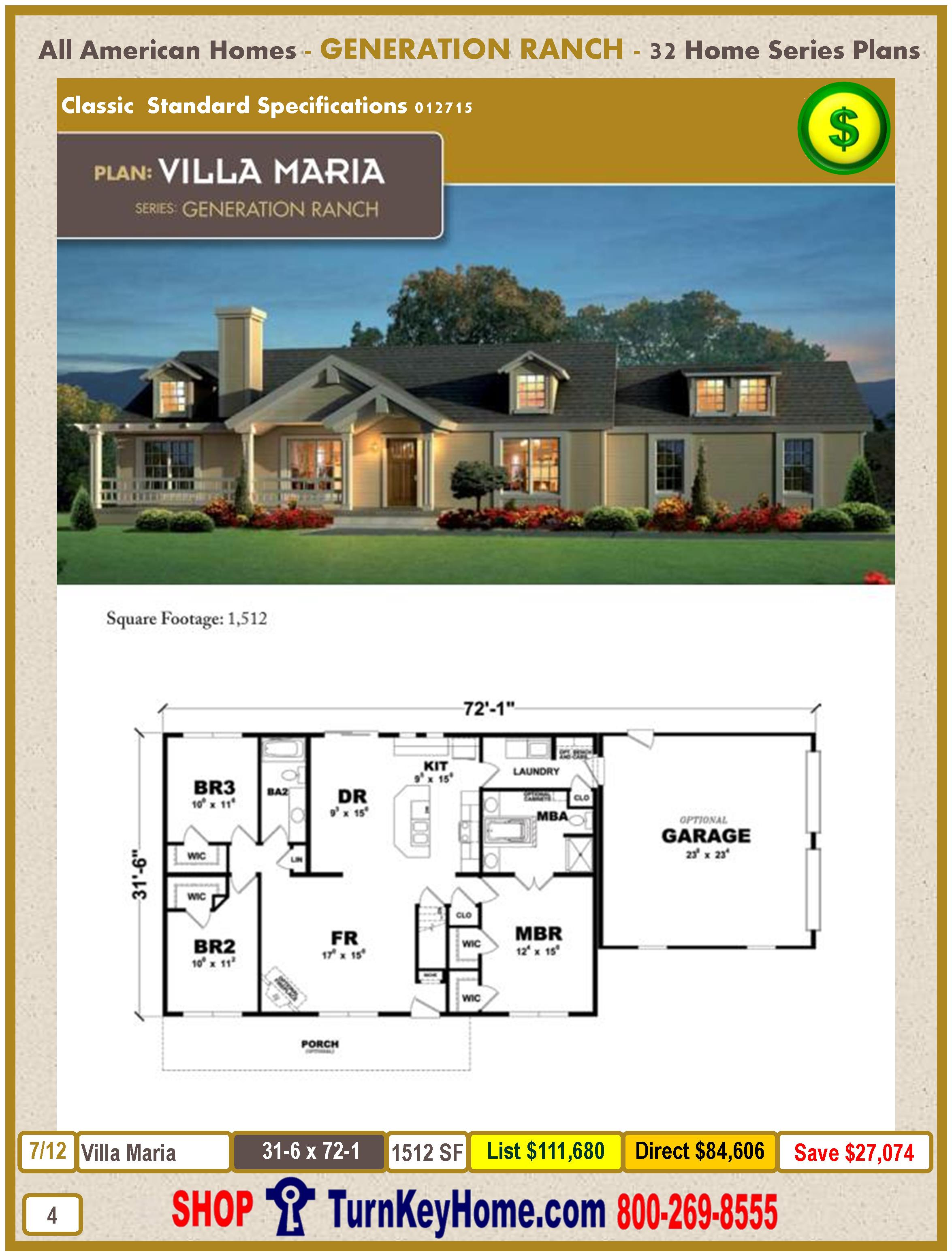 Modular Homes All American Homes GENERATION RANCH CATALOG Plans Prices. Modular Homes Direct Priced