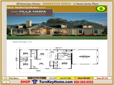 Modular.All.American.Homes.Generation.Ranch.Home.Series.Catalog.Page.4.Villa.Maria.Direct.Price.021415p
