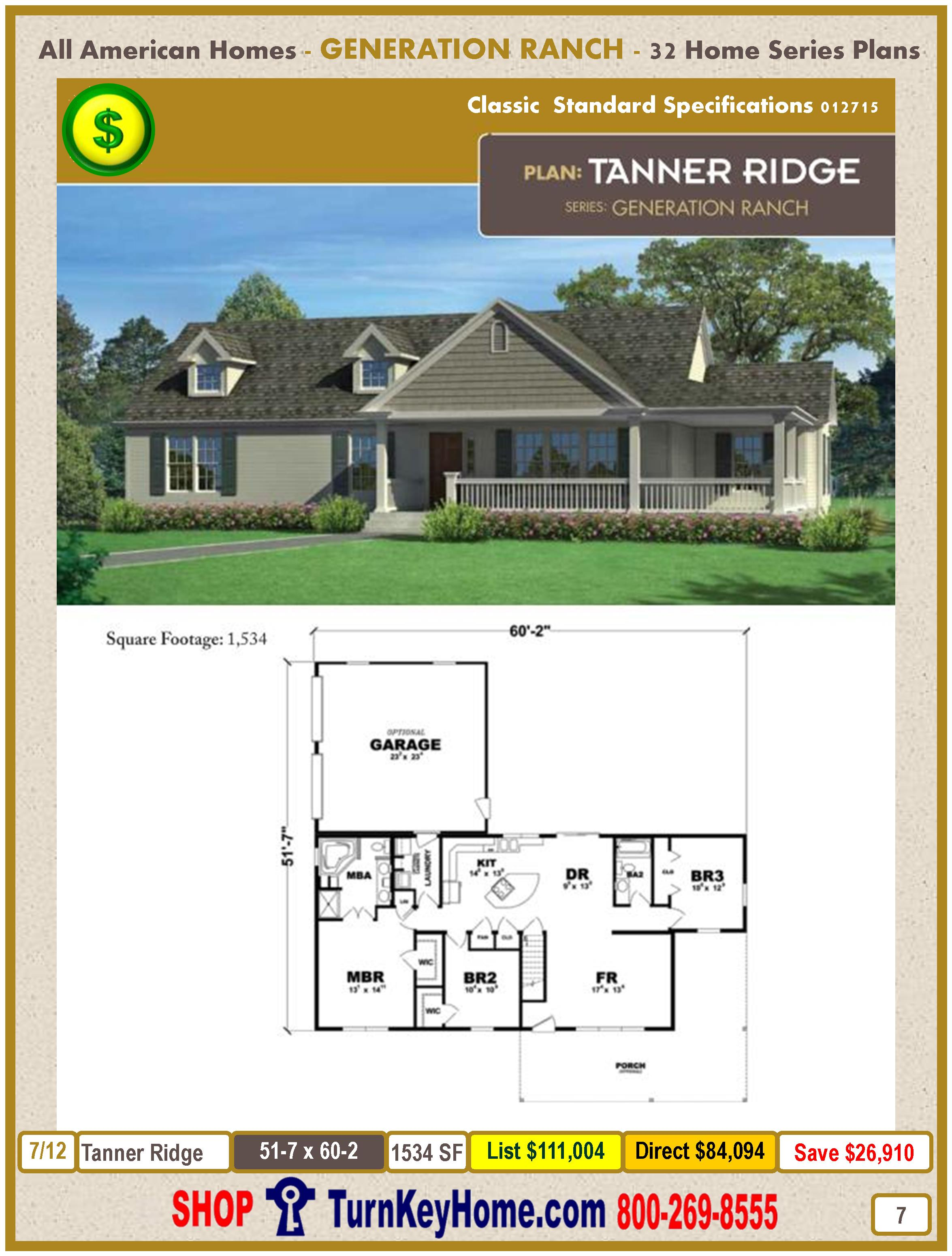 Modular.All.American.Homes.Generation.Ranch.Home.Series.Catalog.Page.7.Tanner.Ridge.Direct.Price.021415