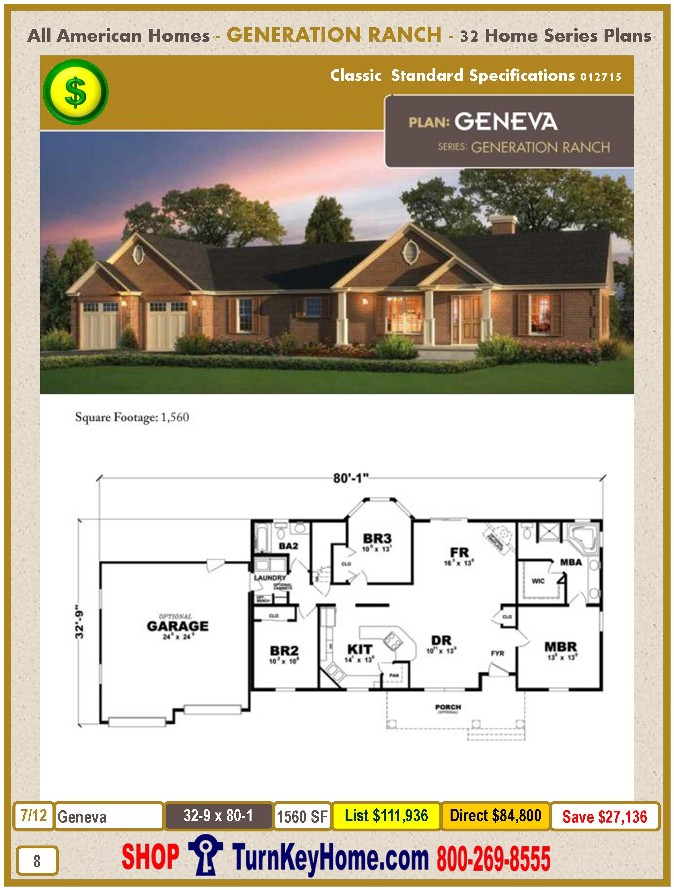 Modular.All.American.Homes.Generation.Ranch.Home.Series.Catalog.Page.8.Geneva.Direct.Price.021415