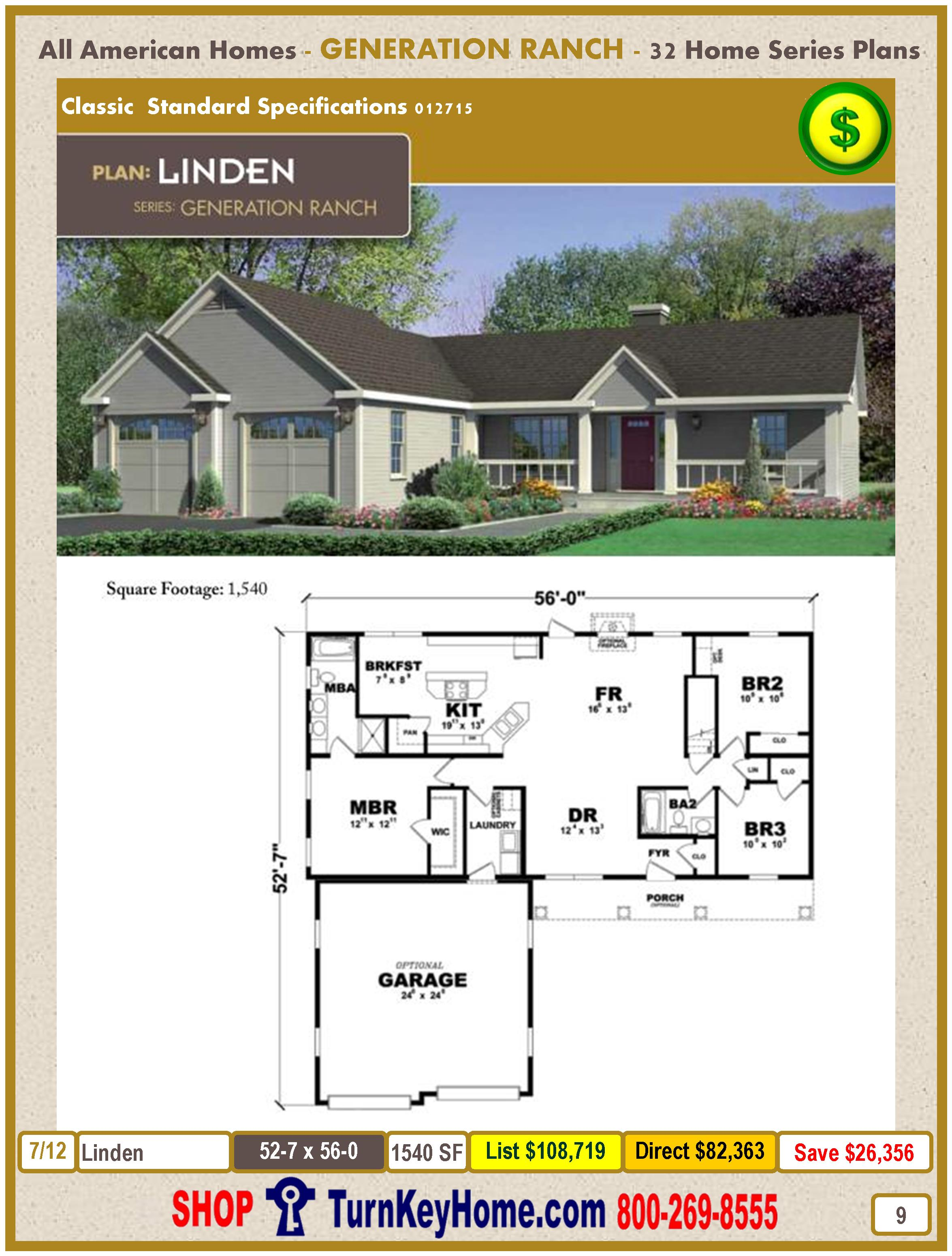 Modular.All.American.Homes.Generation.Ranch.Home.Series.Catalog.Page.9.Linden.Direct.Price.021415