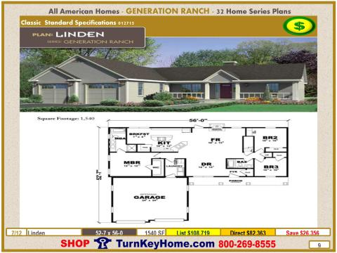 Linden Ranch Modular Home Price