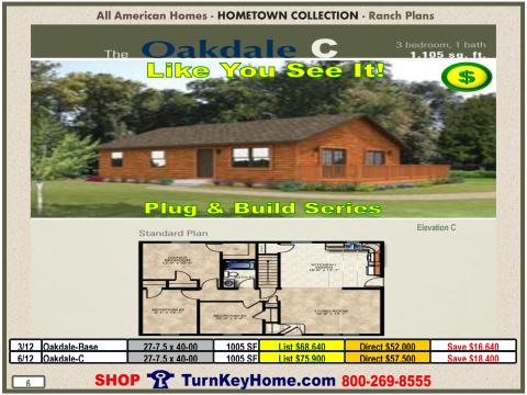 Modular.All.American.Homes.Hometown.Collection.Ranch.Plans.Catalog.Page.6.Oakdale.C.Direct.Price.021615p