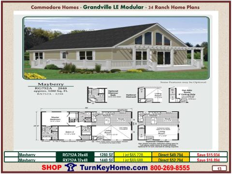 Modular.Commodore.Homes.Grandville.LE.Ranch.Home.Series.Catalog.Page.13.Mayberry.Plan.Direct.Price.020215p