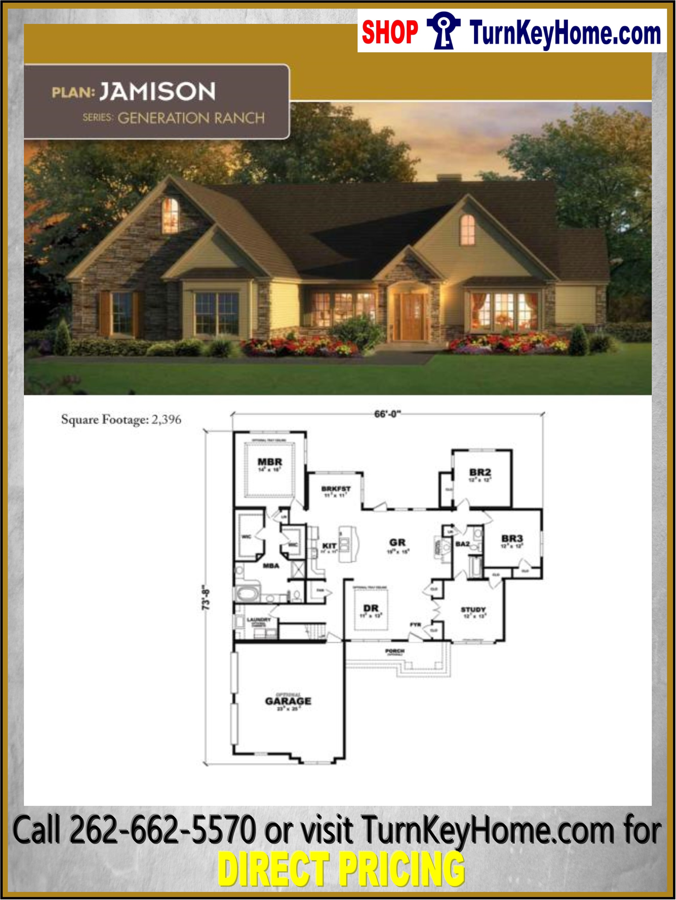 JAMISON Ranch Home 3 Bed 2 Bath Plan 2396 SF Priced from ...