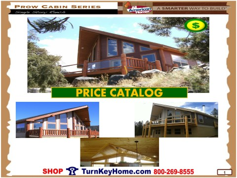 modular home designs and prices. Prow Cabin Series Modular Home Price Catalog From All American Homes Plans and Prices