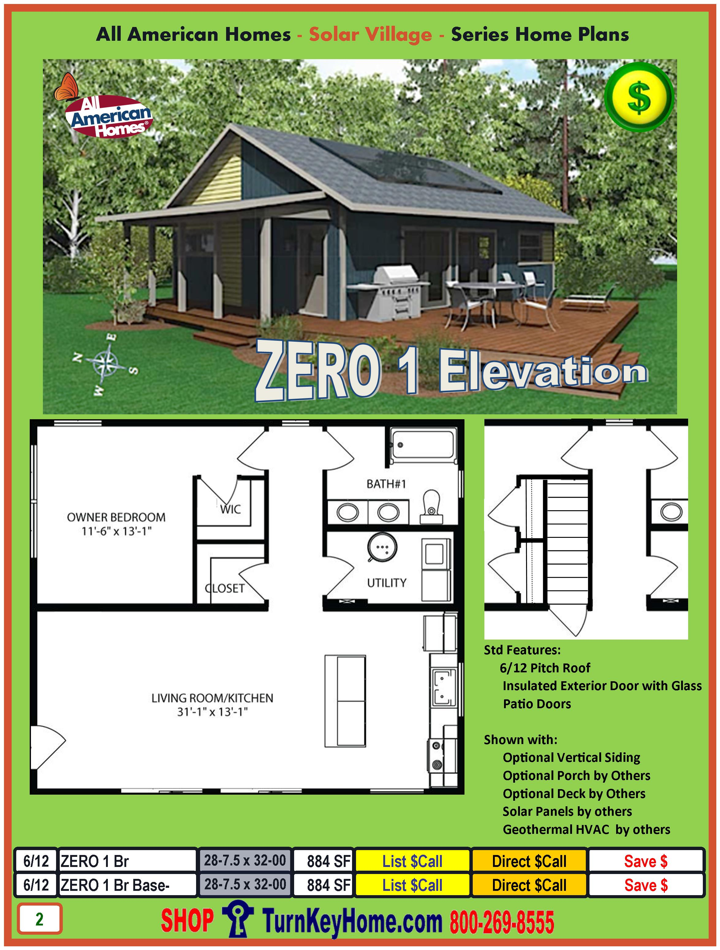 solar village modular home price catalog from all american homes