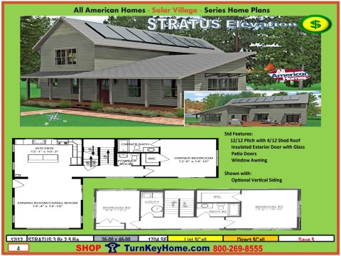 Stratus Solar Home Plan Solar Village Collection