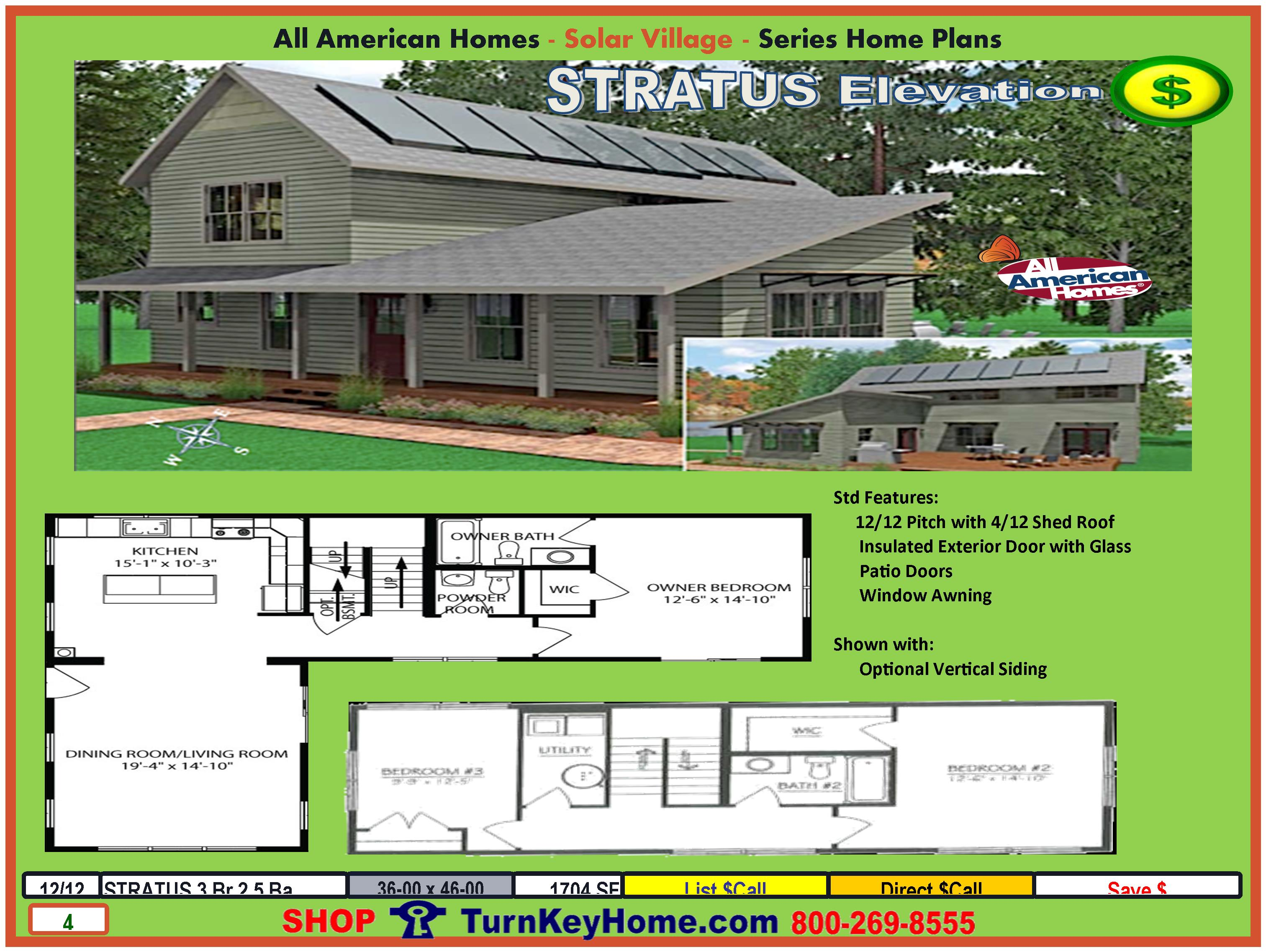 stratus solar collection modular home design from