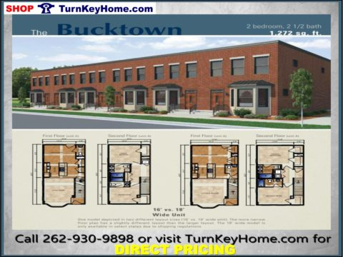 The BUCKTOWN Urban Collection Home 2 Bed 2.5 Bath Plan 1272 SF Priced From  Turn Key Home Modular Plan Designs