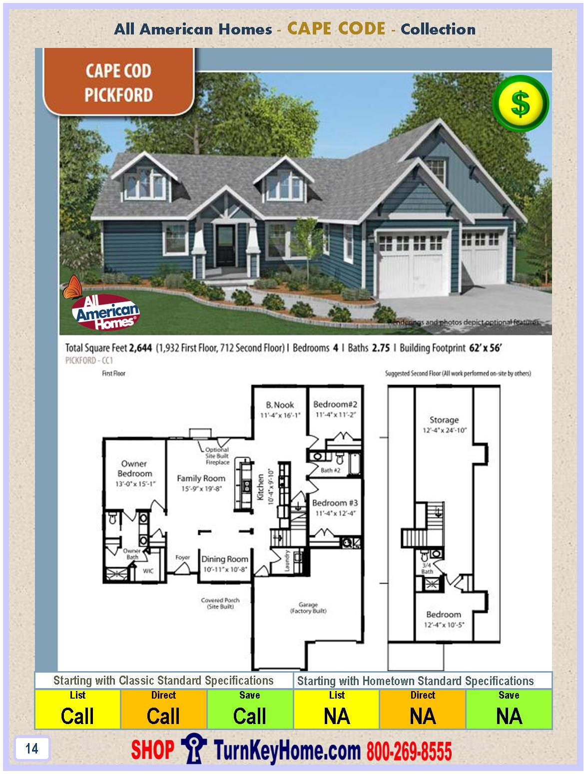 All american cottage house plans