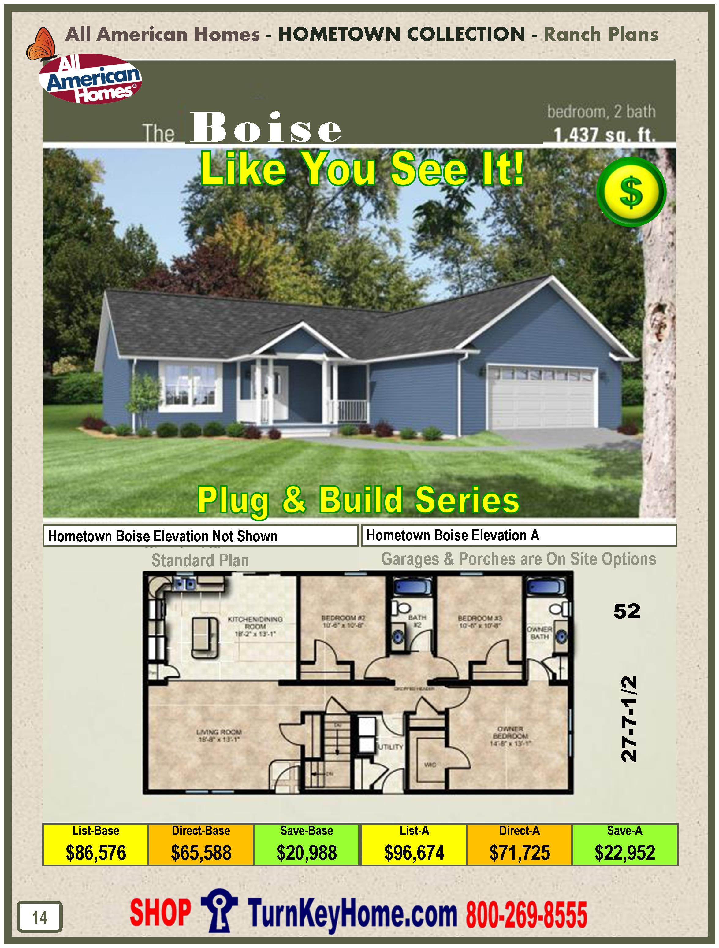 All American Homes cedar bend all american modular home hometown collection plan price