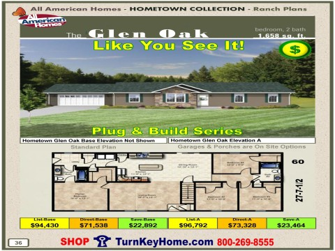 Modular.Home.All.American.Homes.Hometown.Collection.GLEN.OAK.Plans.Price.P36.1215.p
