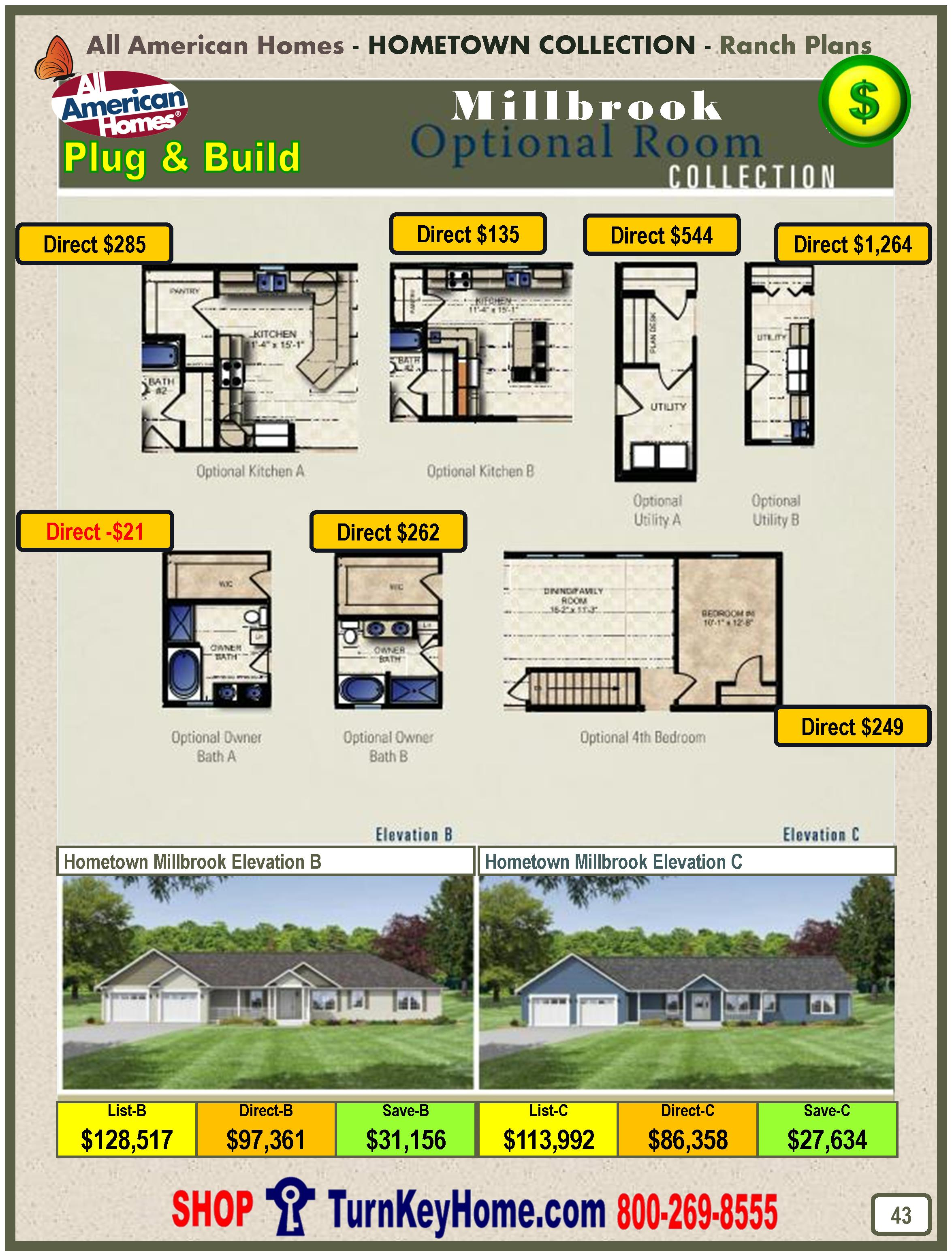 All American Homes millbrook all american home ranch hometown collection plan price