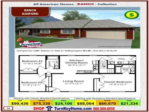 Modular.Home.All.American.Homes.Ranch.Collection.ASHFORD.Plan.Price.Catalog.P14.1215.p