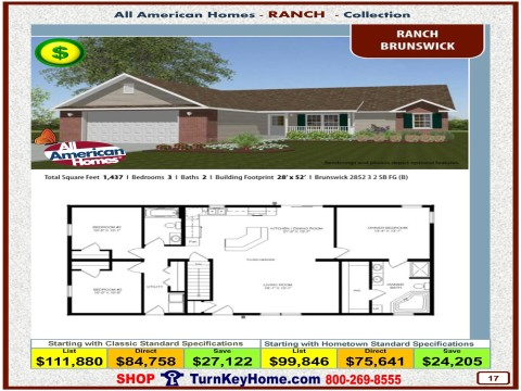 Modular.Home.All.American.Homes.Ranch.Collection.BRUNSWICK.Plan.Price.Catalog.P9.1215.p