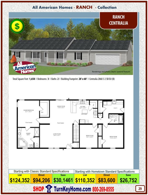 Modular.Home.All.American.Homes.Ranch.Collection.CENTRALIA.Plan.Price.Catalog.P29.1215