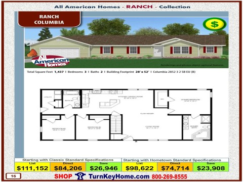 Modular.Home.All.American.Homes.Ranch.Collection.COLUMBIA.Plan.Price.Catalog.P16.1215.p