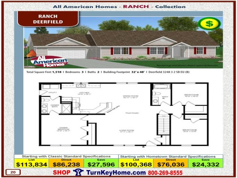 Modular.Home.All.American.Homes.Ranch.Collection.DEERFIELD.Plan.Price.Catalog.P20.1215.p