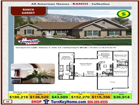 Modular.Home.All.American.Homes.Ranch.Collection.GARNET.Plan.Price.Catalog.P44.1215.p