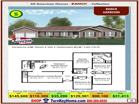 Modular.Home.All.American.Homes.Ranch.Collection.GARRISON.Plan.Price.Catalog.P43.1215.p