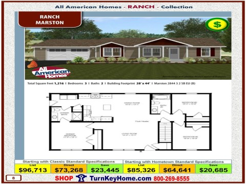 Modular.Home.All.American.Homes.Ranch.Collection.MARSTON.Plan.Price.Catalog.P8.1215.p