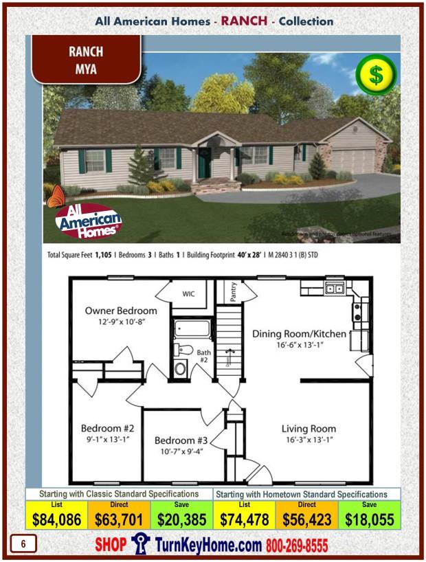 Modular.Home.All.American.Homes.Ranch.Collection.MYA.Plan.Price.Catalog.P6.1215