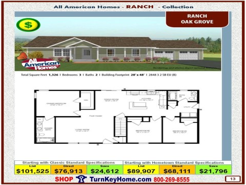 Modular.Home.All.American.Homes.Ranch.Collection.OAK.GROVE.Plan.Price.Catalog.P13.1215.p
