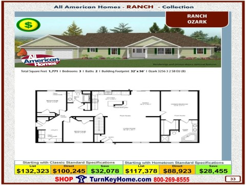 Modular.Home.All.American.Homes.Ranch.Collection.OZARK.Plan.Price.Catalog.P33.1215.p