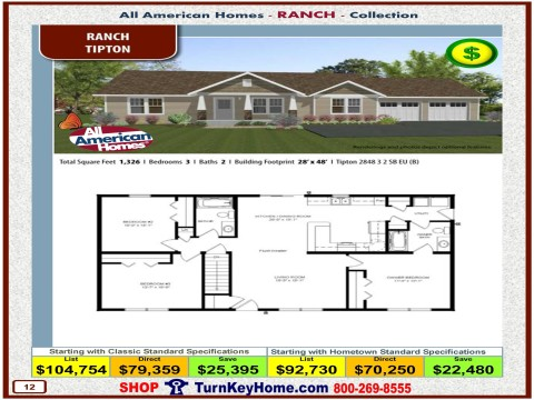 Modular.Home.All.American.Homes.Ranch.Collection.TIPTON.Plan.Price.Catalog.P12.1215.p