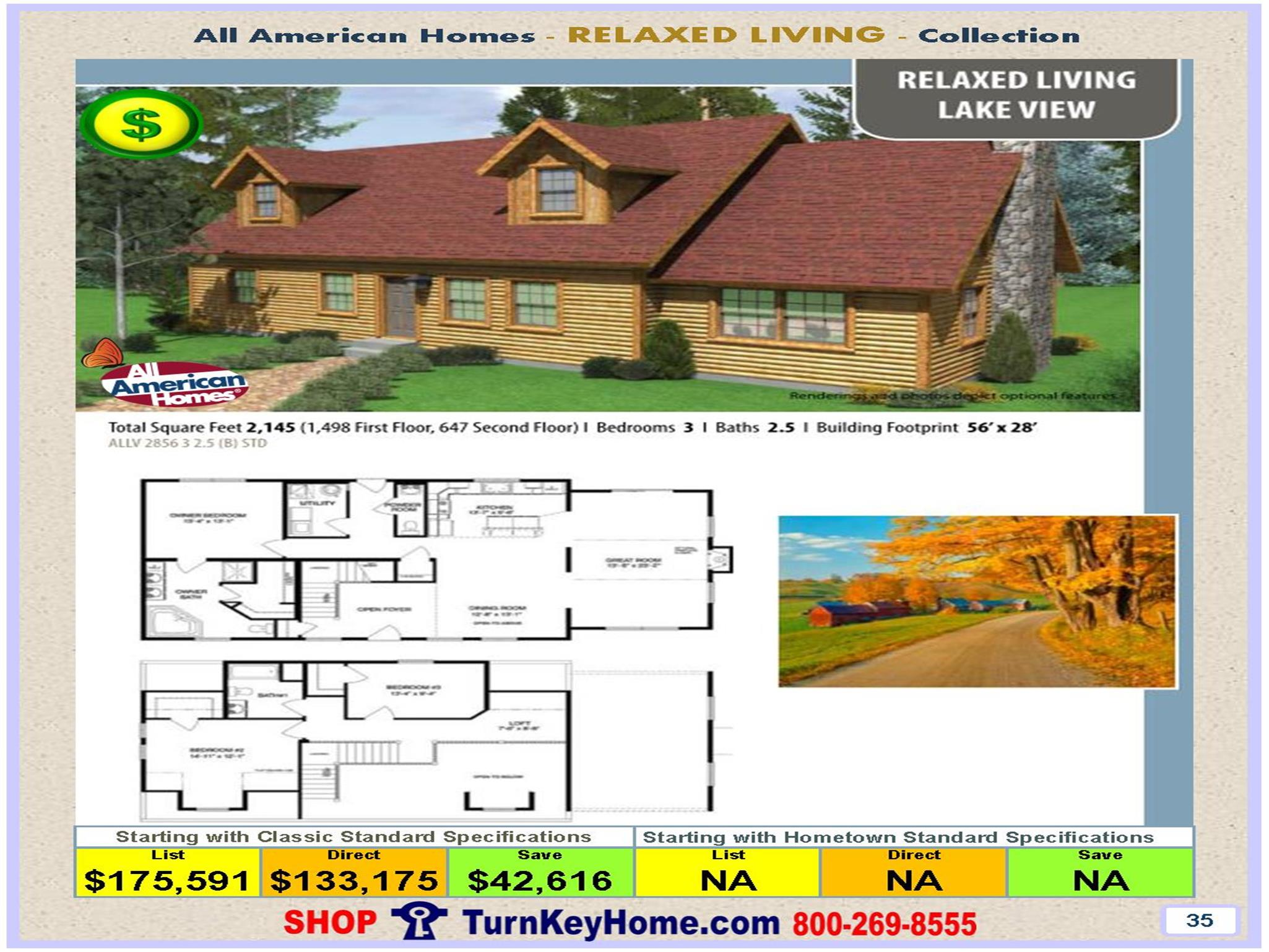 lake view all american modular home relaxed living collection plan