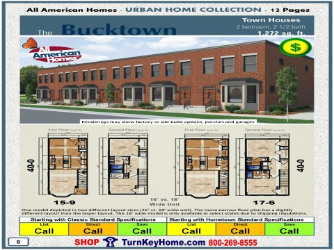 Modular.Home.All.American.Homes.Urban.Home.BUCKTOWN.TOWN.HOUSE.Plan.Price.P8.1215.p