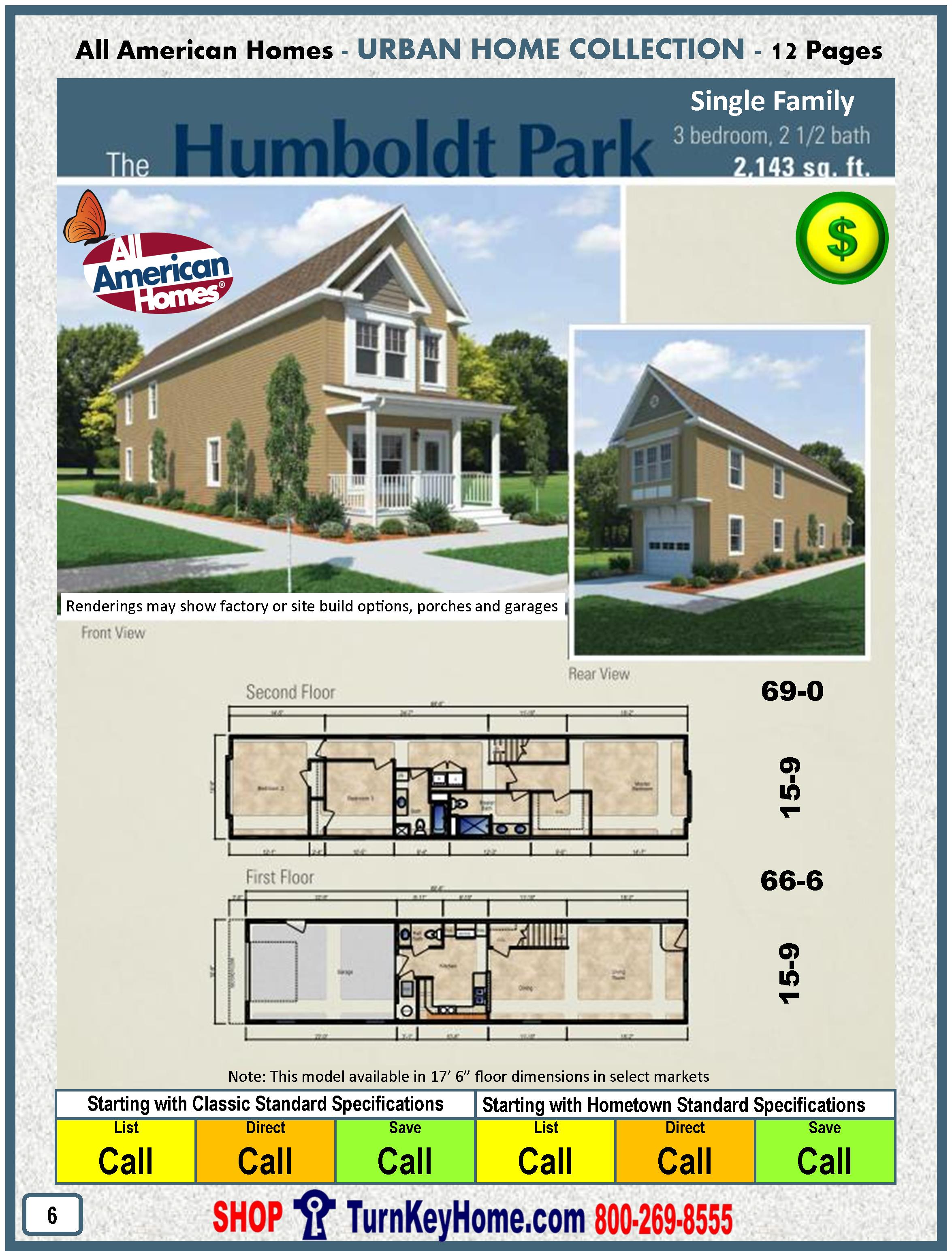 Modular Home All American Homes Urban HUMBOLDT PARK SINGLE FAMILY Plan PriceMORE HERE