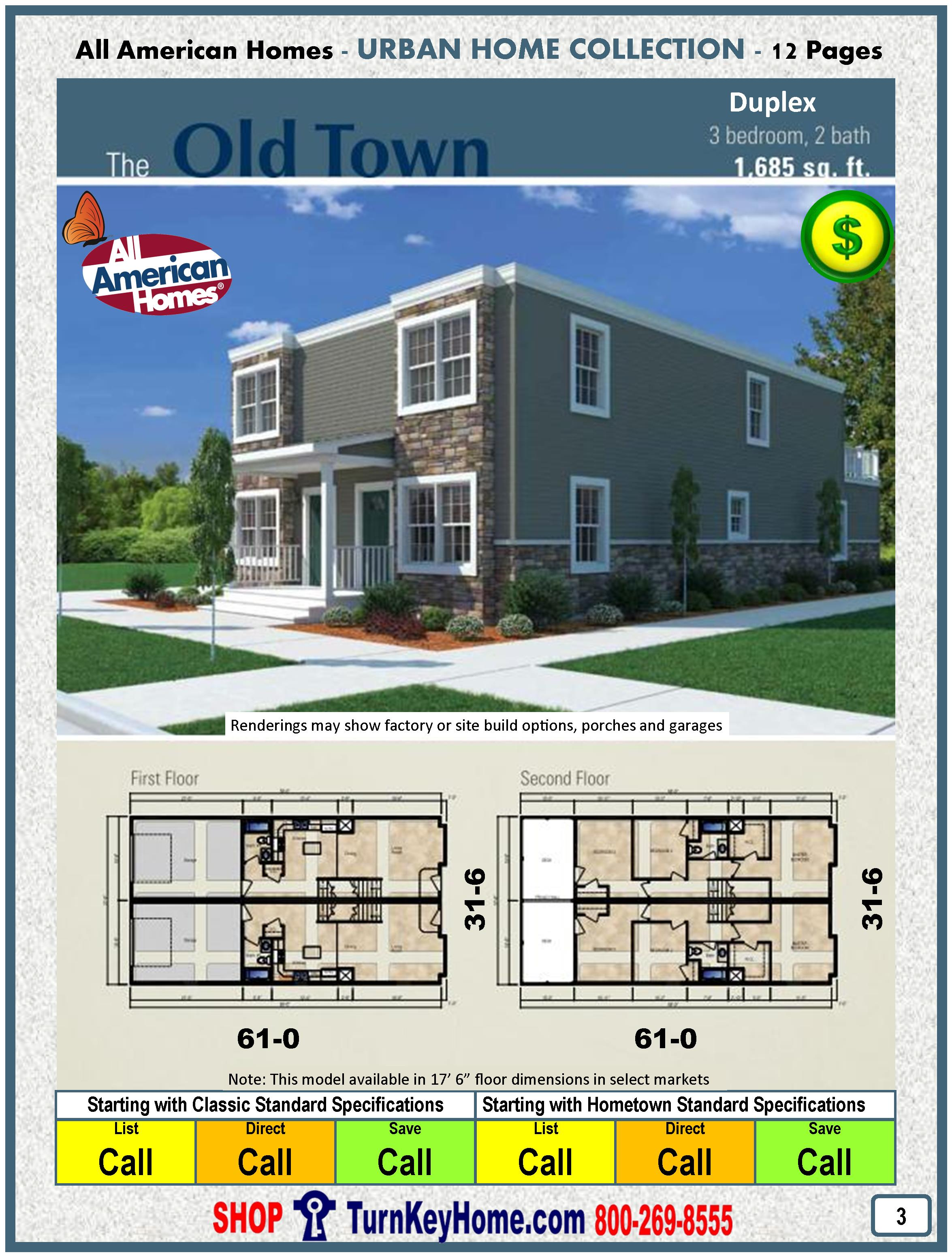 Old Town Duplex All American Modular Home Urban Collection