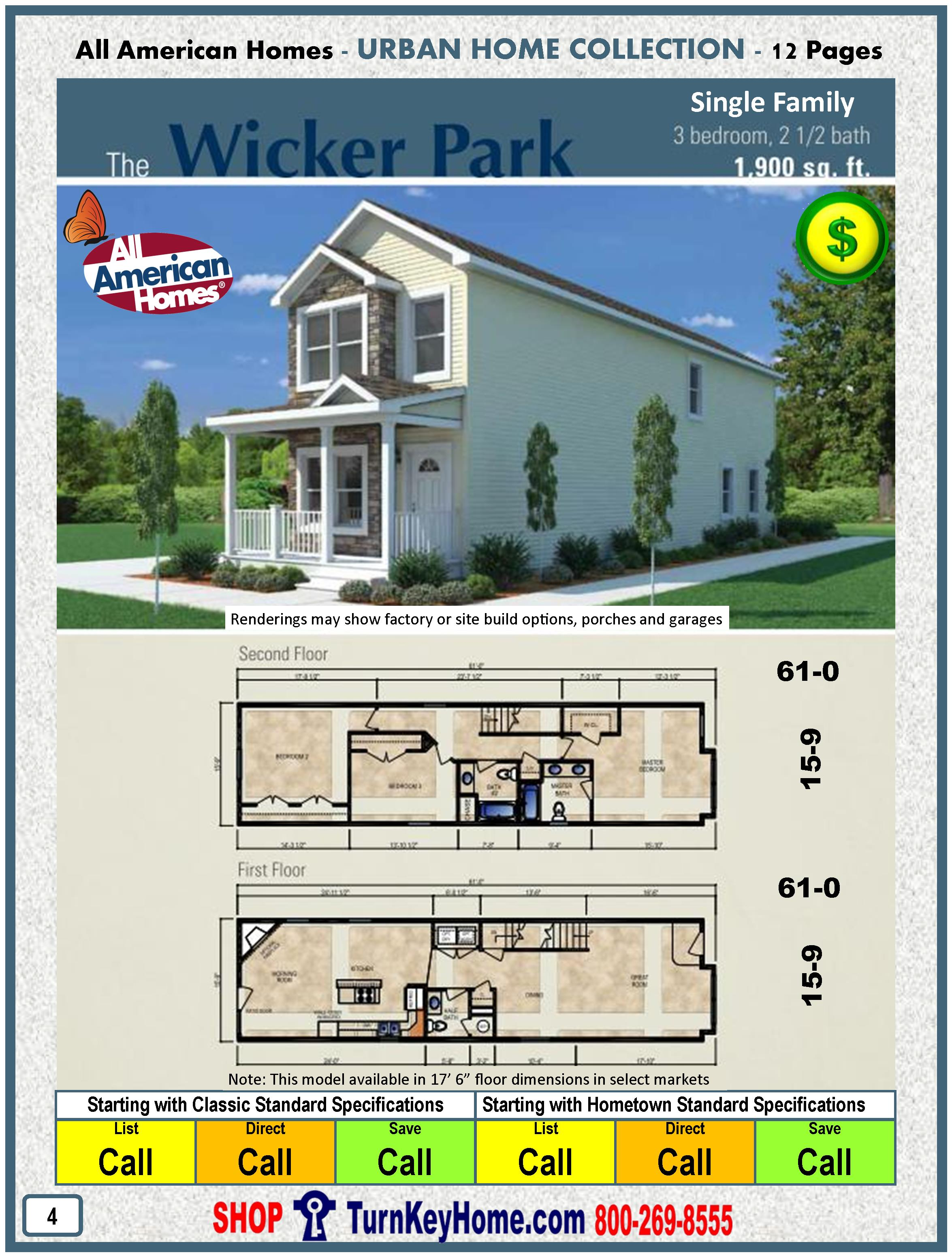 Classic american model homes