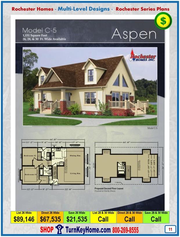 Aspen Rochester Modular Home Cape Cod Multi Level Plan Price