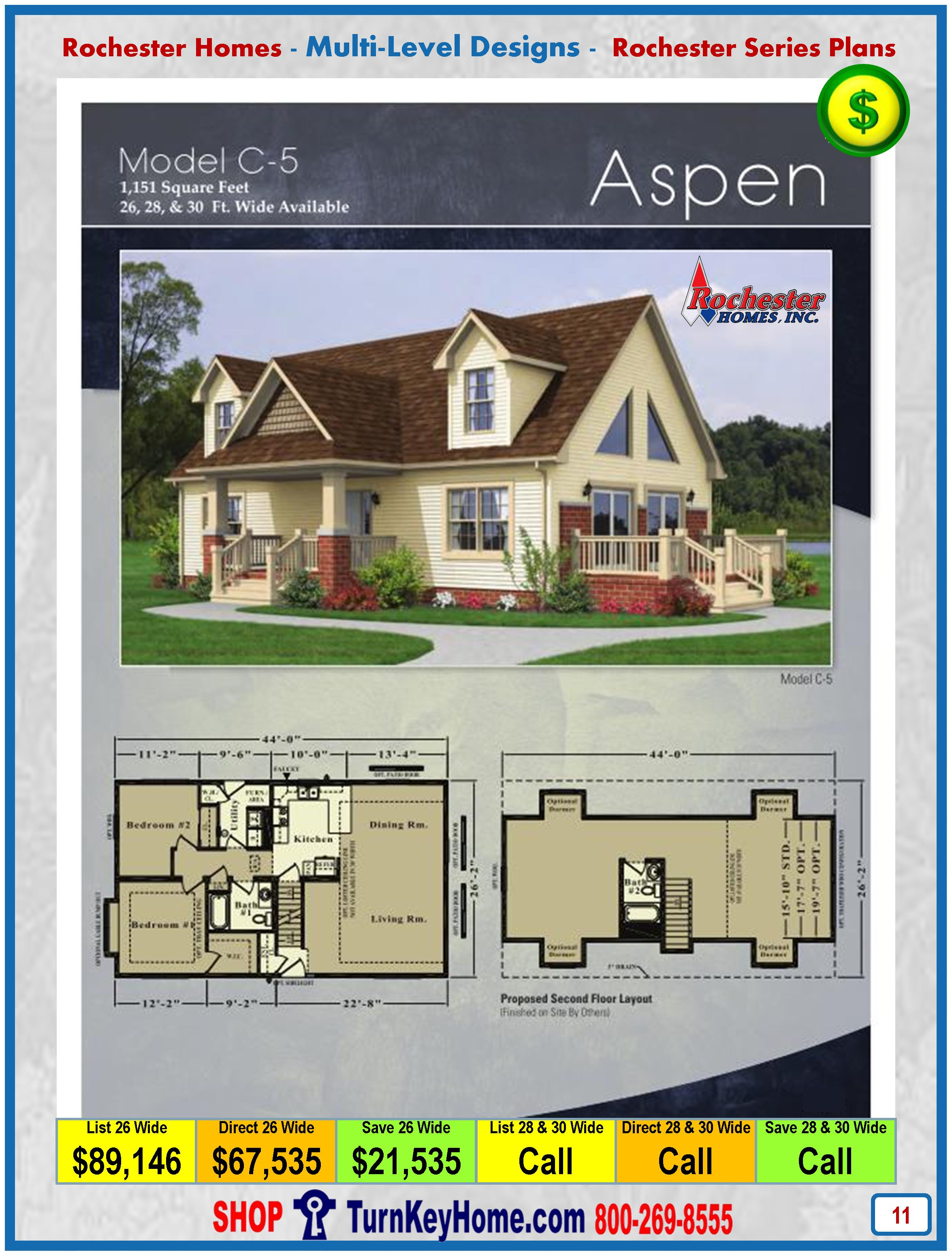 Aspen Rochester Modular Home Cape Cod Multi Level Plan Price
