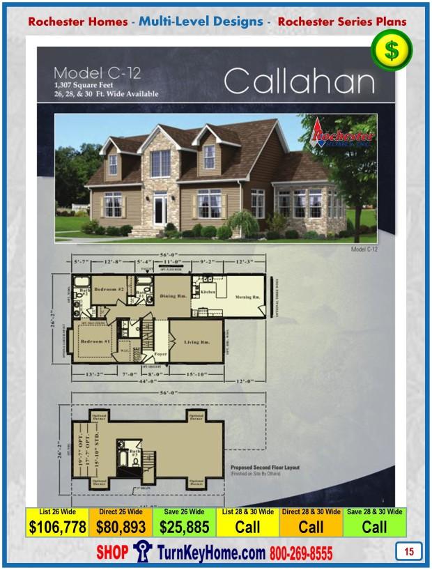 Callahan rochester modular home cape cod multi level plan for Modular cape cod house plans
