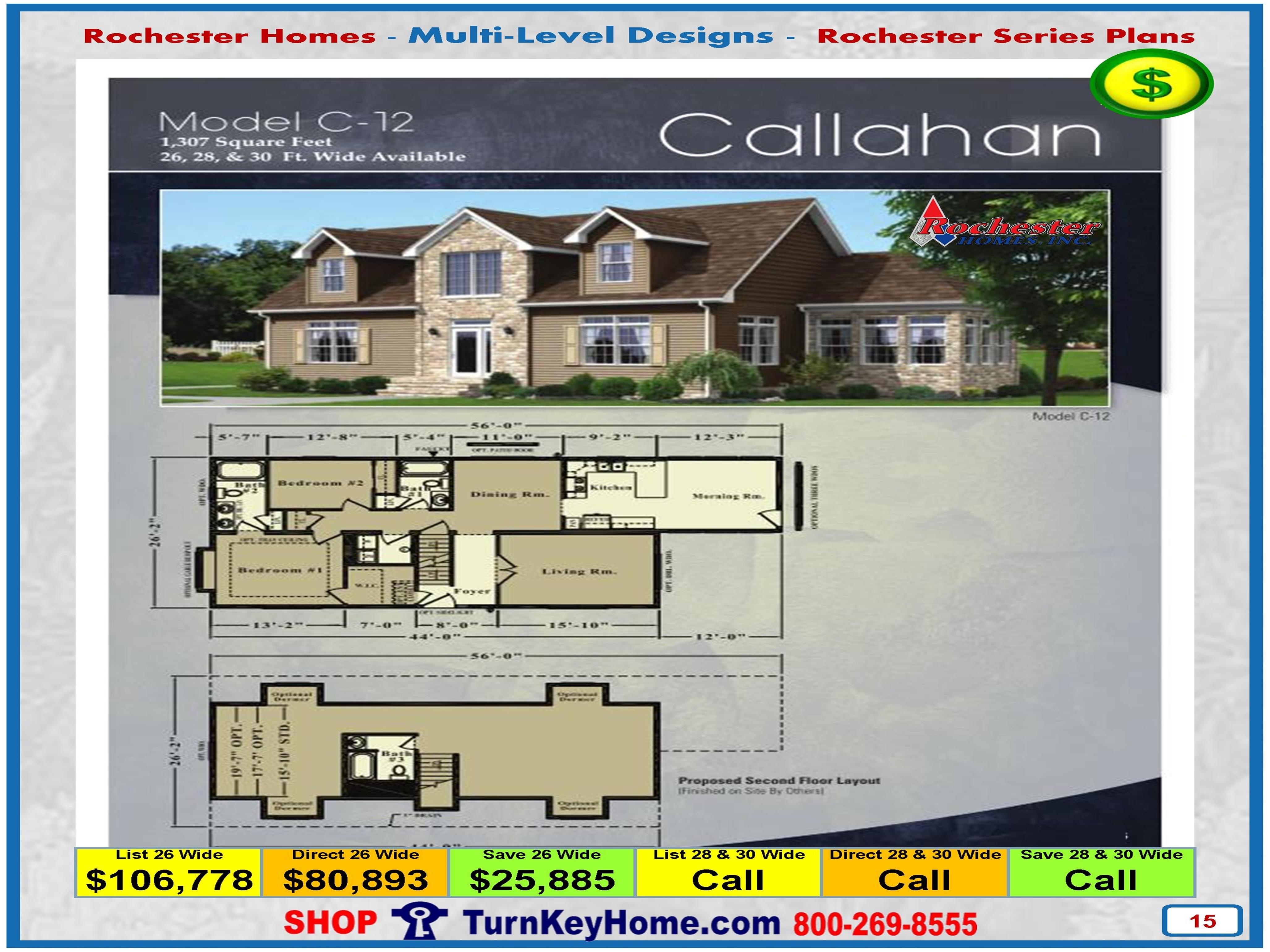 callahan rochester modular home cape cod multi level plan price