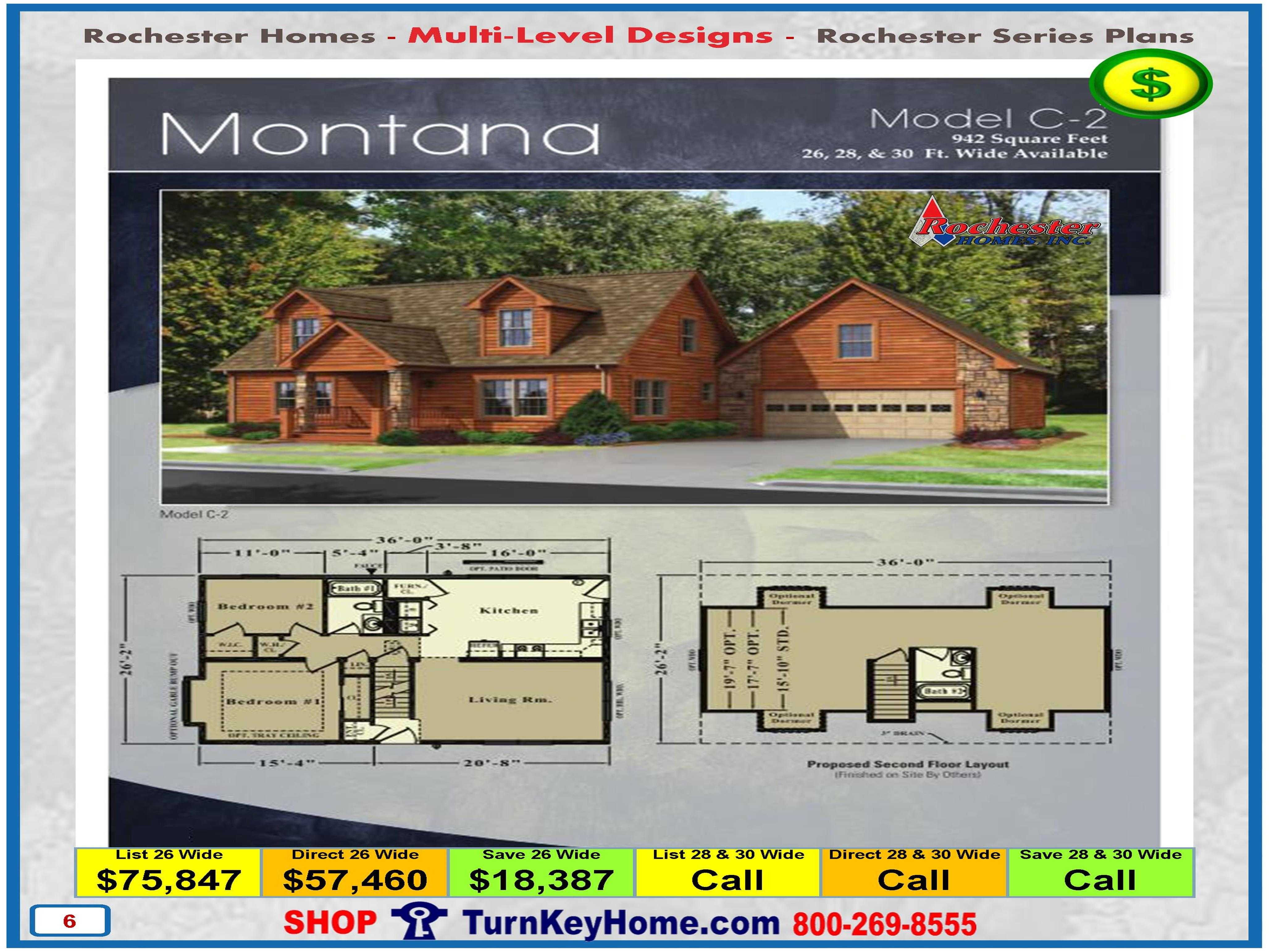 montana rochester modular home cape cod multi level plan price