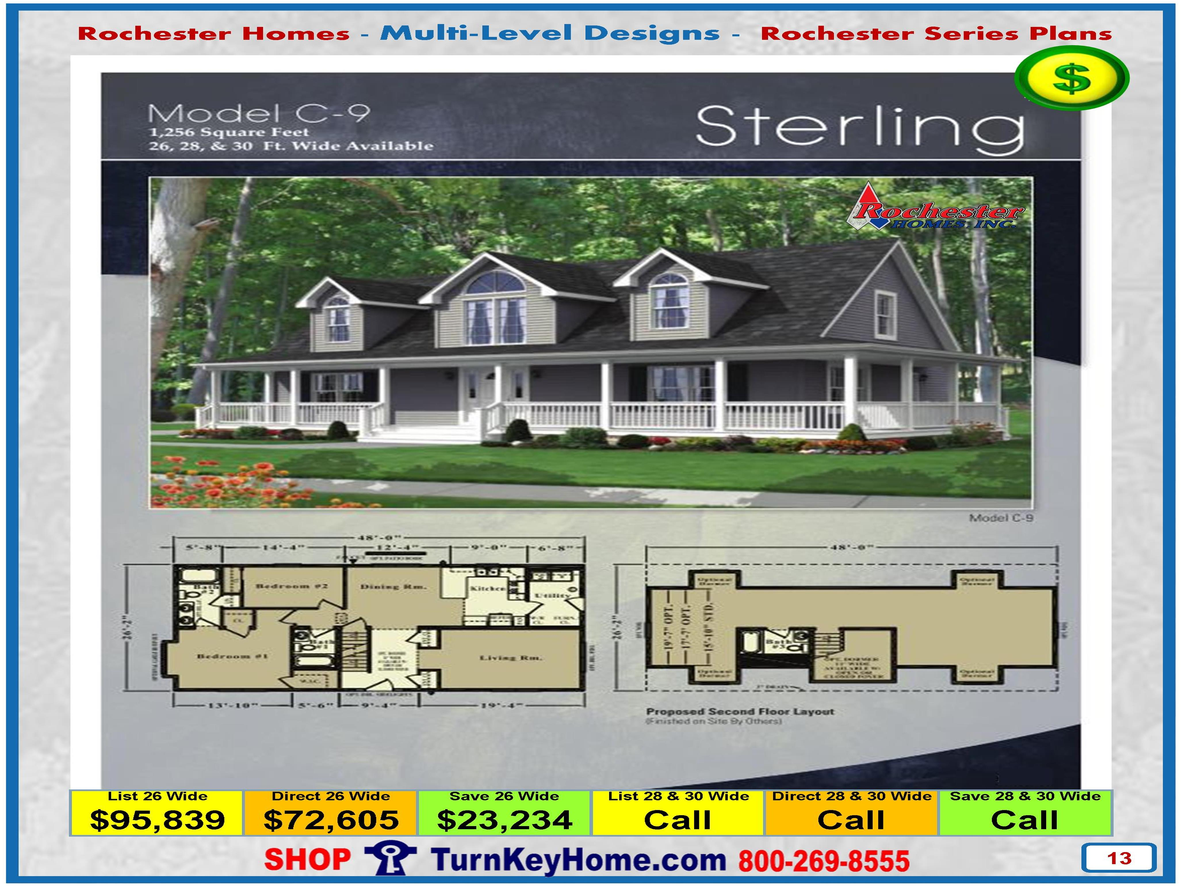 sterling rochester modular home cape cod multi level plan price