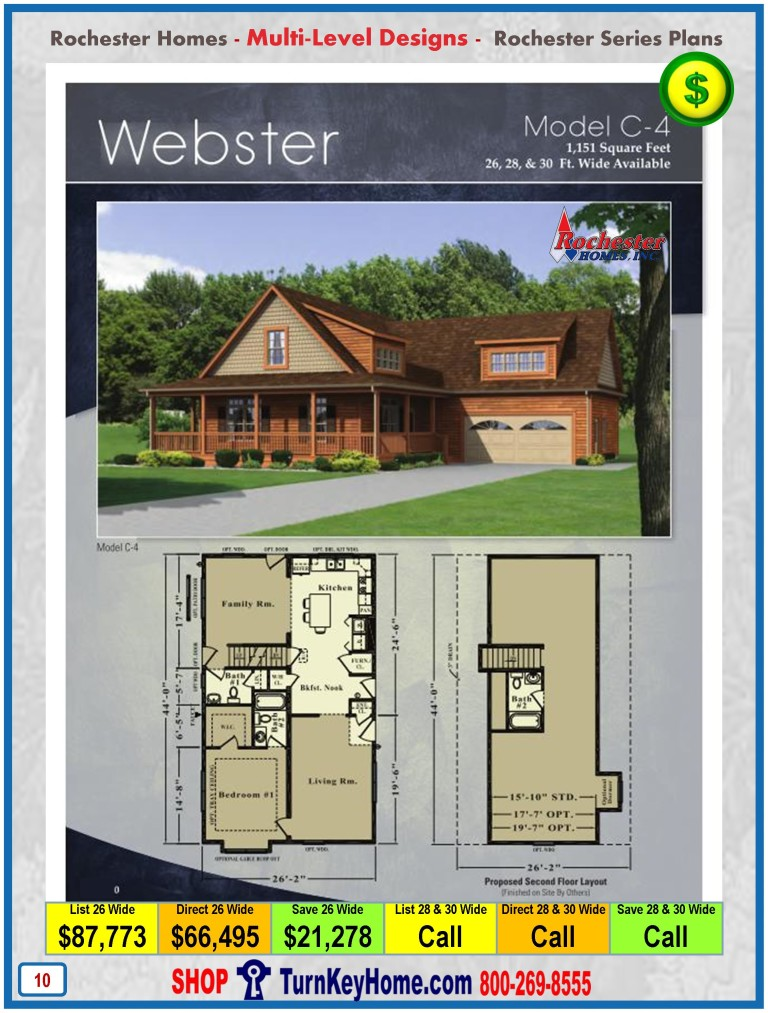 Multi Level Modular Home Prices From Rochester Homes Inc