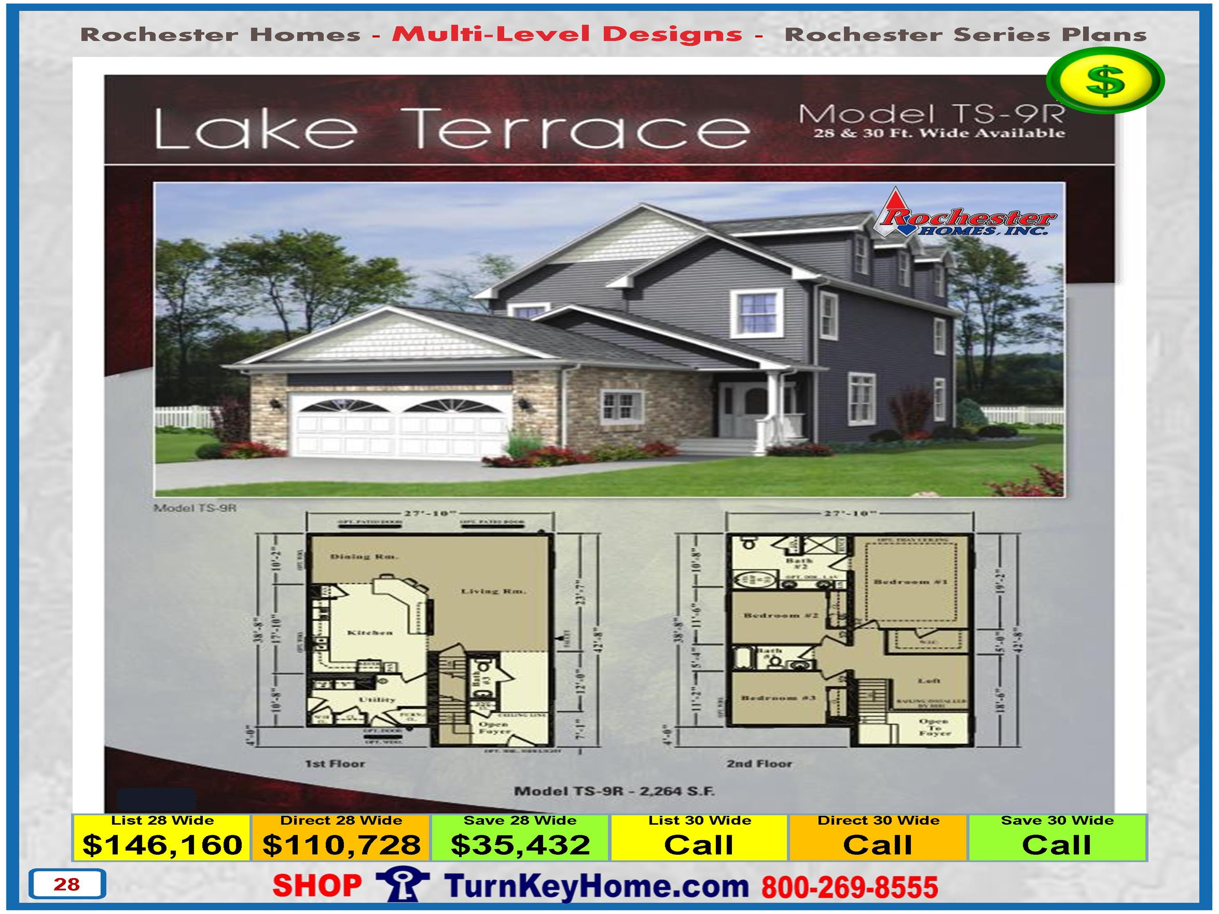 Lake Terrace Rochester Modular Home Model Ts 9r Two Story