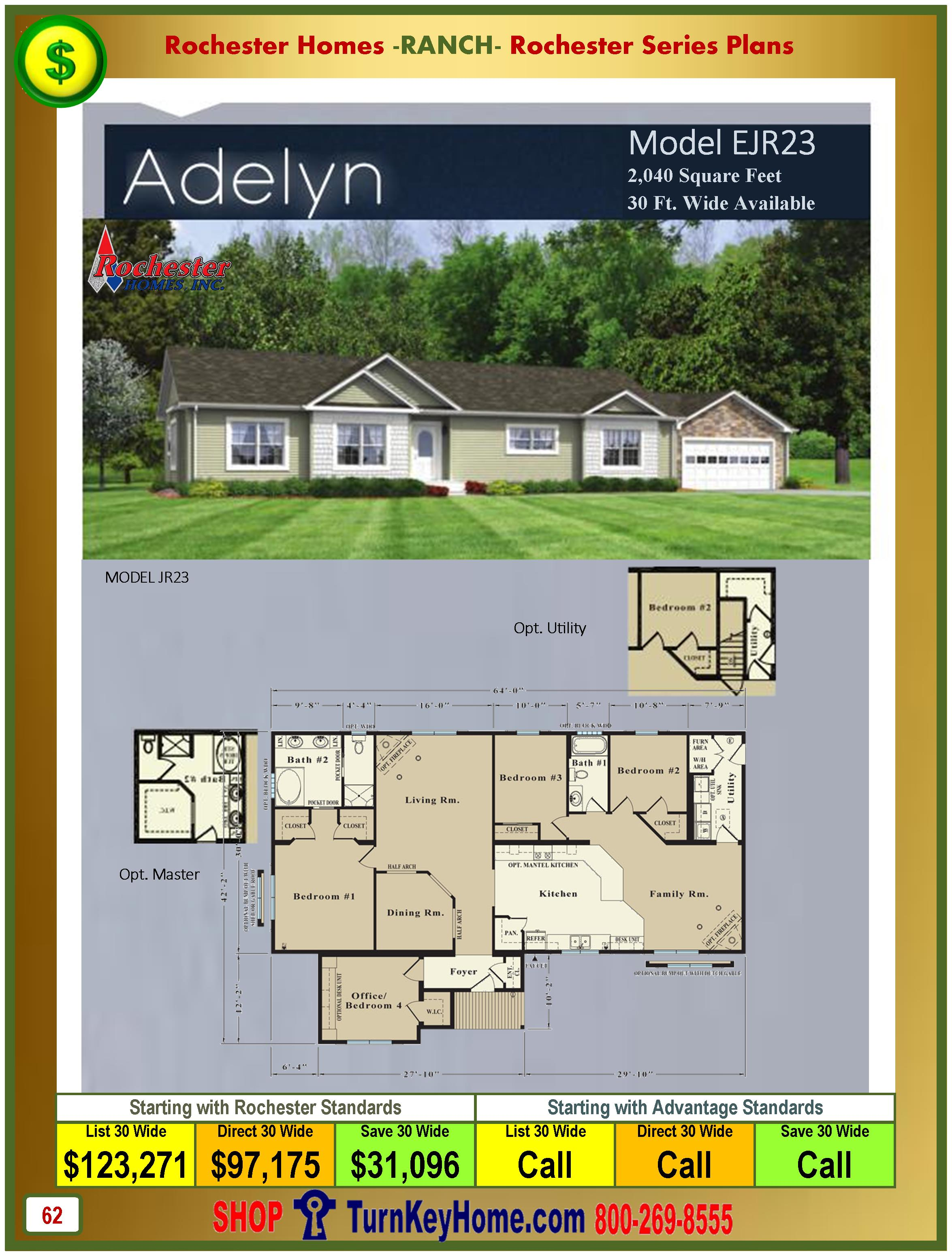 Modular.Homes.Rochester.Home.Inc.Adelyn.EJR23.Ranch.Plan.Price.Catalog.P62.1215