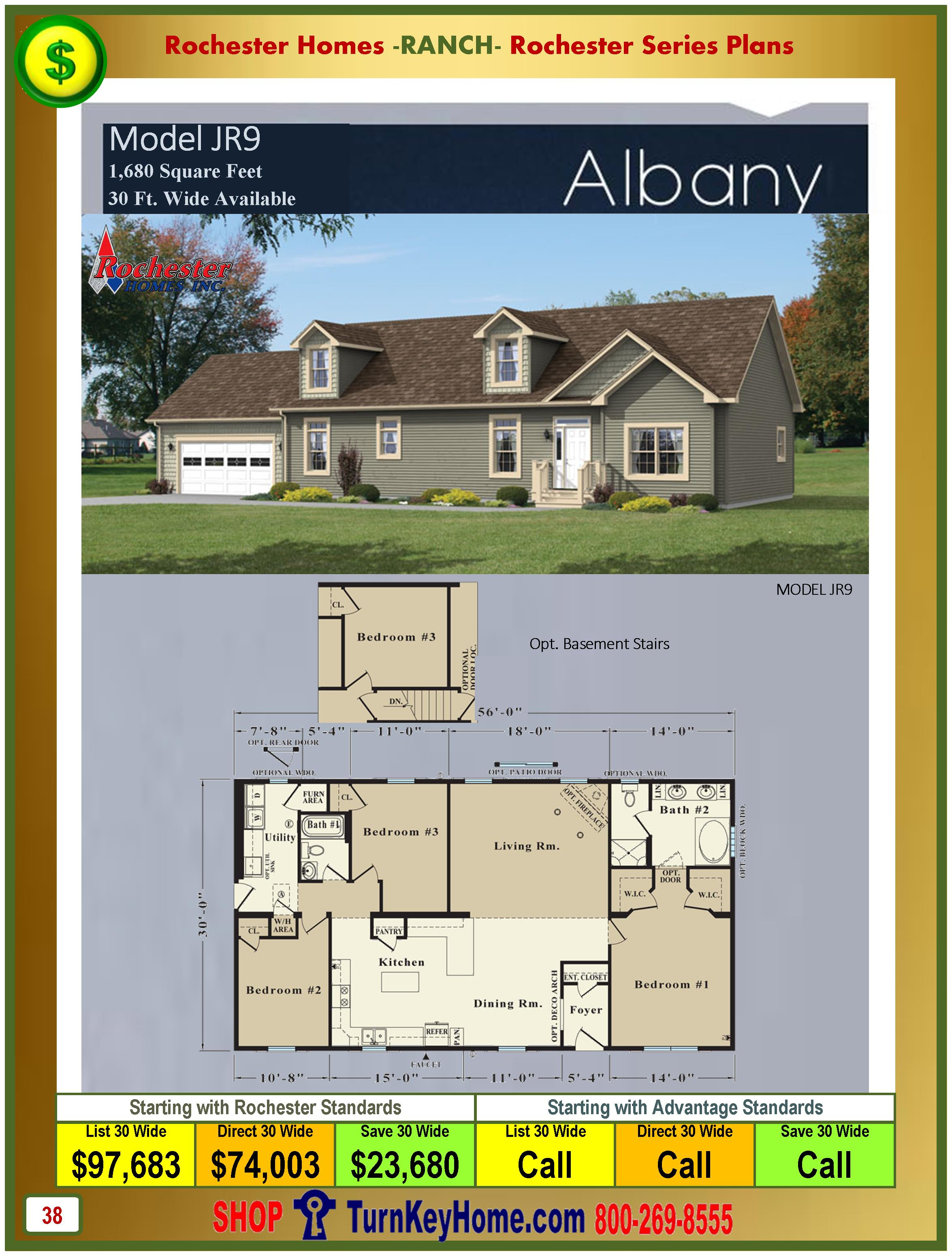 Modular.Homes.Rochester.Home.Inc.Albany.JR9.Ranch.Plan.Price.Catalog.P38.1215