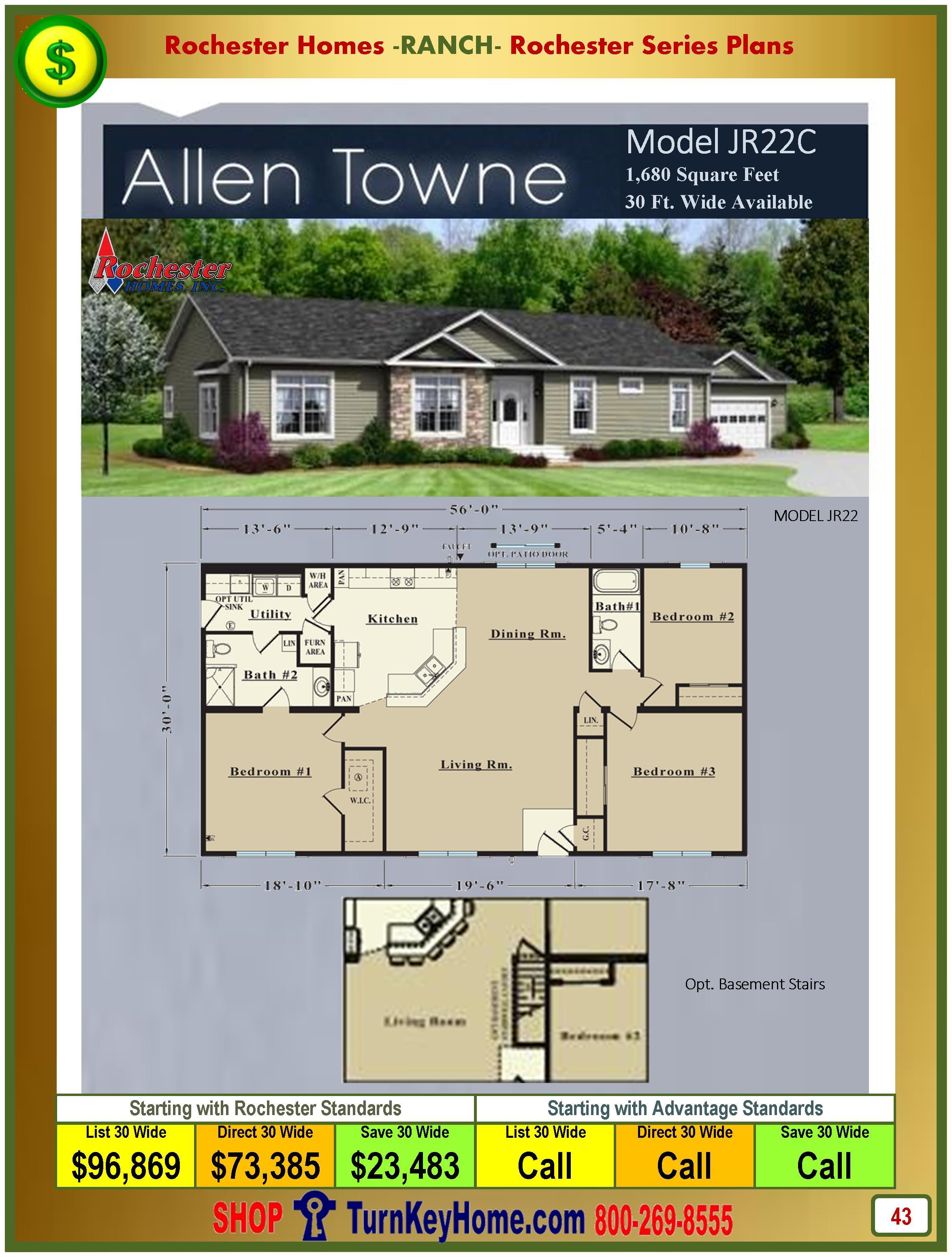 Modular.Homes.Rochester.Home.Inc.Allen.Towne.JR22C.Ranch.Plan.Price.Catalog.P43