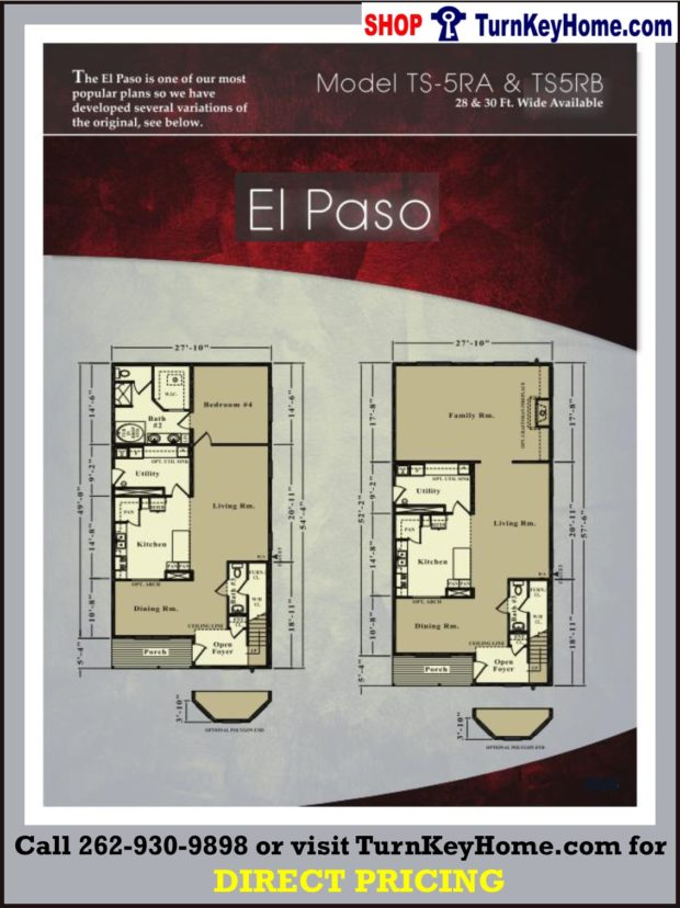 El paso two story home 3 bed 2 5 bath plan priced from for El paso home designers