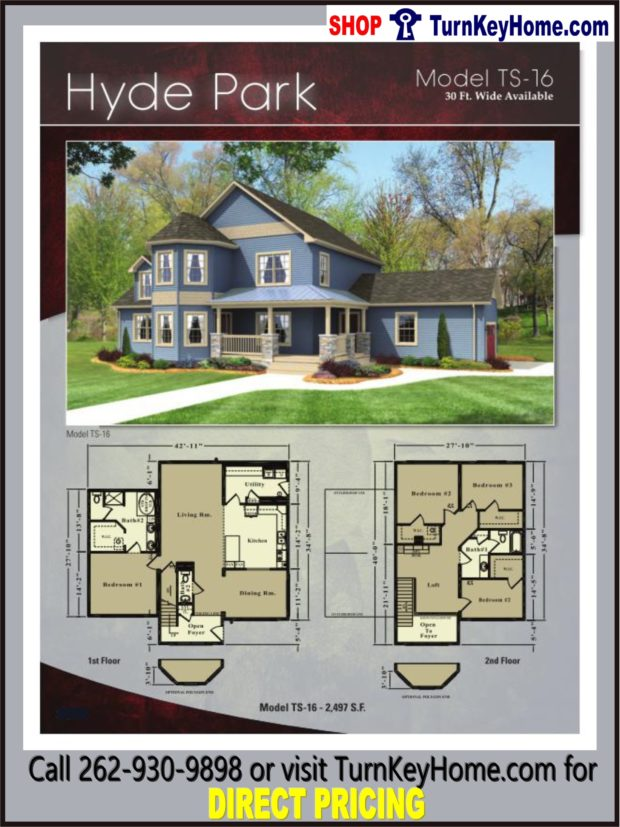Hyde park two story home 4 bed 2 5 bath plan 2497 sf for Hyde homes floor plans