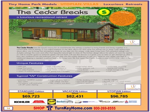 Tiny.Home.Park.Model.Utopian.Villas.CEDAR.BREAKS.Plan.Price.P14.1215.p