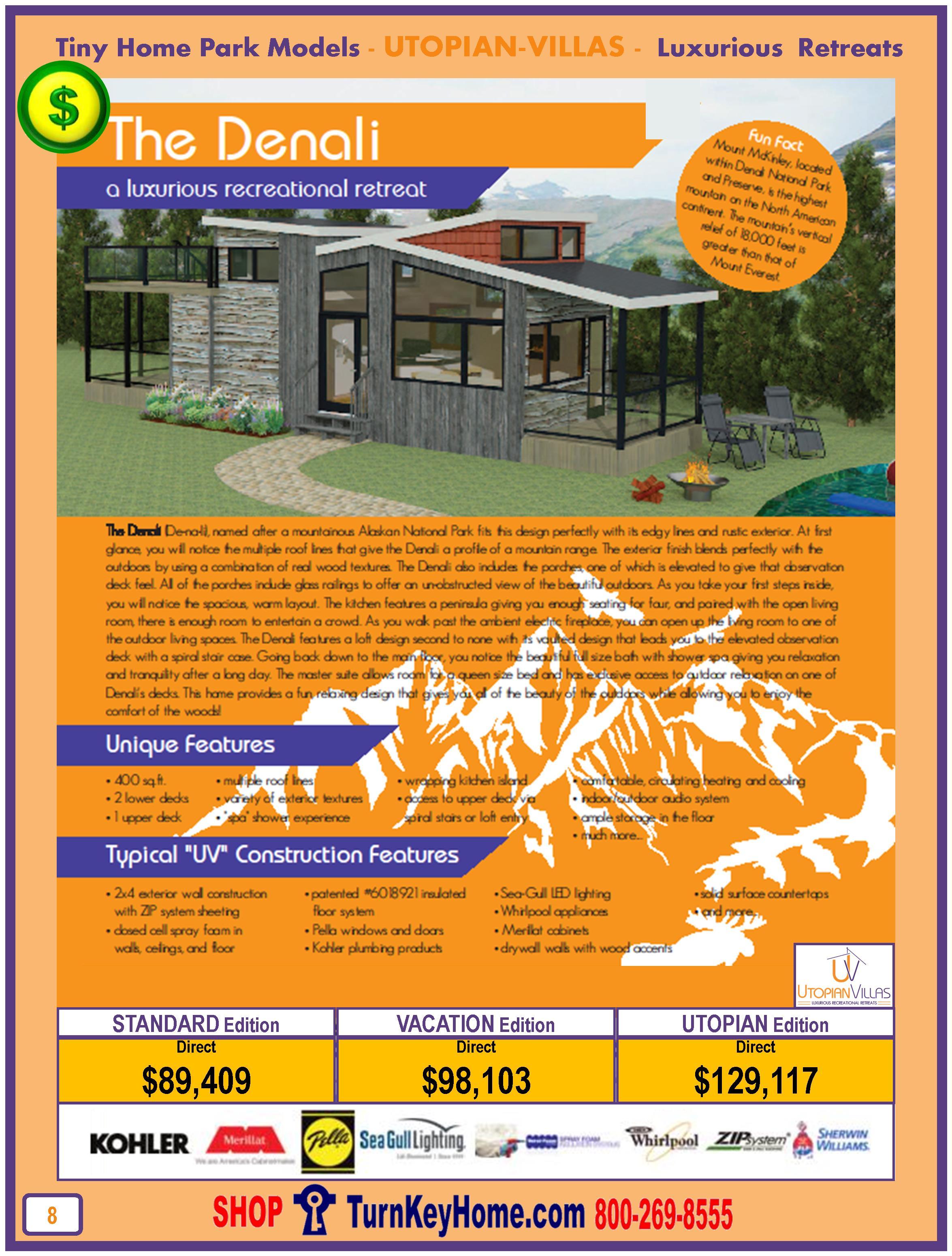 Tiny.Home.Park.Model.Utopian.Villas.DENALI.Plan.Price.P8.0116